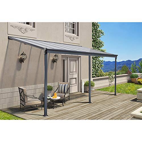 Home Deluxe - Terrassenüberdachung anthrazit - Maße: 495 x 303 x 226/278 cm - Inkl....