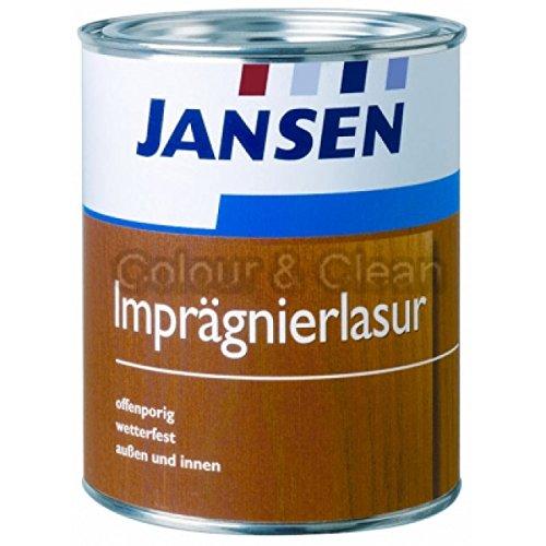 JANSEN Imprägnierlasur Dünnschichtlasur 5 Liter Holz-Imprägnier-Lasur Holzlas...