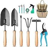 MOSFiATA Gartenwerkzeug Set 12-teiliges Handwerkzeugset aus Kohlenstoffstahl, ausgestattet...