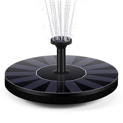 BAONUOR Solar Springbrunnen 2020 Upgrade, Solar Teichpumpe mit 5 Effekte Solar Wasserpumpe...