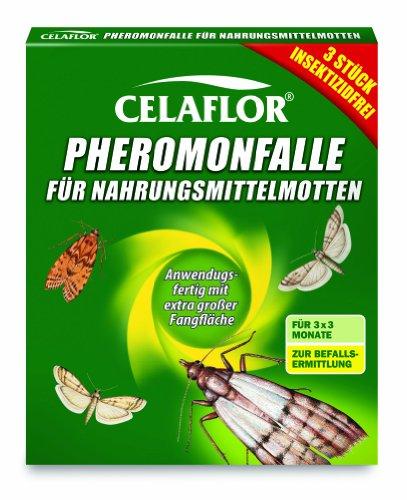 Celaflor Pheromonfalle für Nahrungsmittelmotten, Mottenfalle für Lebensmittelmotten, 3...