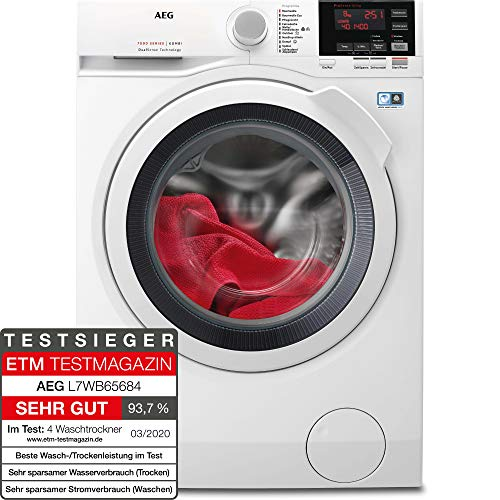 AEG L7WB65684 Waschtrockner / DualSense - schonende Pflege / 8,0 kg Waschen / 4,0 kg...