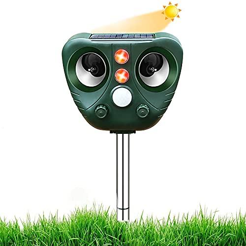 2021 Neu Katzenschreck,Ultraschall Abwehr mit Solarbetrieb und Blitz gegen Katzen, Hunde,...