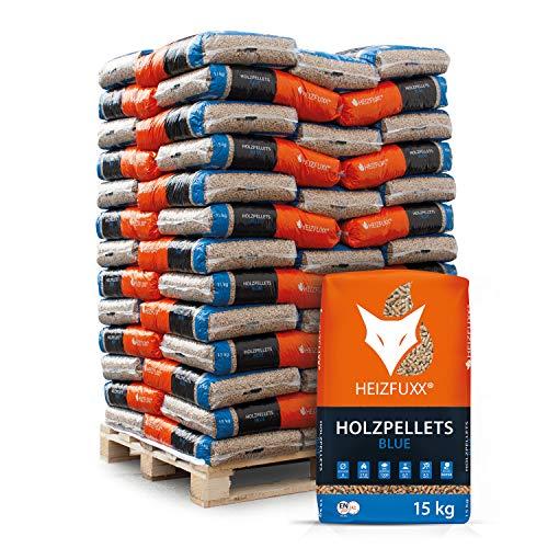 HEIZFUXX Holzpellets Blue Heizpellets Nadelholz Wood Pellet Öko Energie Heizung Kessel...