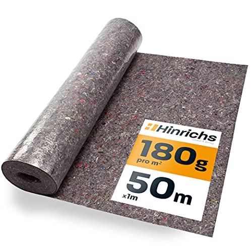 Hinrichs Malervlies 50 m x 1m = 50 m² - 180g Abdeckvlies - Vlies mit Anti-Rutsch...