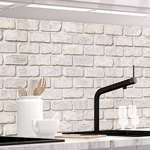 StickerProfis Küchenrückwand selbstklebend - GEKALKTE Wand - 1.5mm, Versteift, alle...