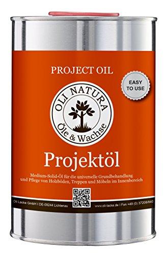 OLI-NATURA Projektöl für innen (speziell für Möbel, Parkett und Treppen aus Holz),  1...