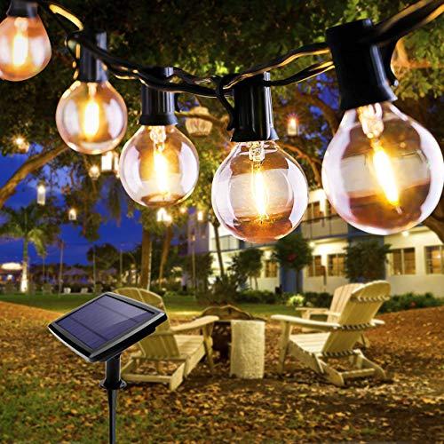 Lichterkette Außen, FOCHEA Lichterkette Glühbirnen 5.5m 10er LED Solar Lichterkette...