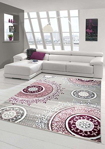 Designer Teppich Moderner Teppich Wohnzimmer Teppich Klassisch Gemustert Kreis Ornamente...