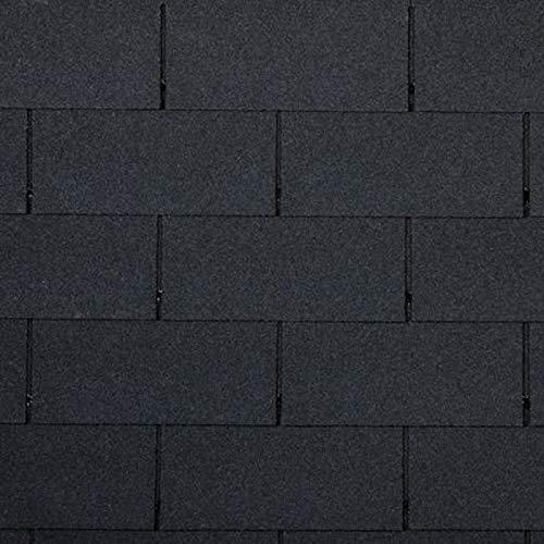 doitBau PREMIUM Bitumen Dachschindeln – Rechteckige Dachpappe Selbstklebend für 3m²...