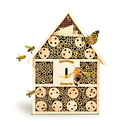 bambuswald© Insektenhotel 28,5 x 9 x 39 cm | Bienenhotel Unterschlupf für Insekten -...