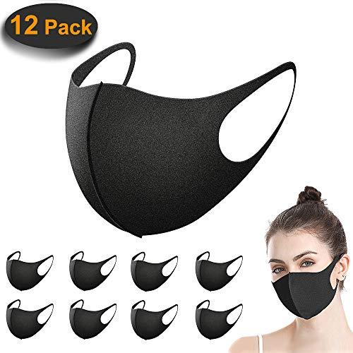 12 Stück Mundschutz Maske, ACMETOP Staub Gesichtsmaske, Fashion Unisex Face Masks,...