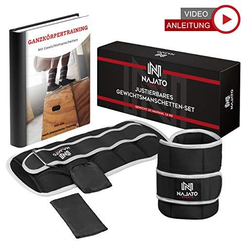 NAJATO Sports verstellbares Gewichtsmanschetten Fuß 2er Set – Mit reflektierender...