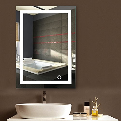 MUPAI Badspiegel mit Beleuchtung,Badezimmerspiegel mit Beleuchtung,badezimmerspiegel LED...