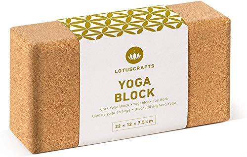 Lotuscrafts Yogablock Kork Supra Grip - ökologisch hergestellt - Yogaklotz aus Naturkork...