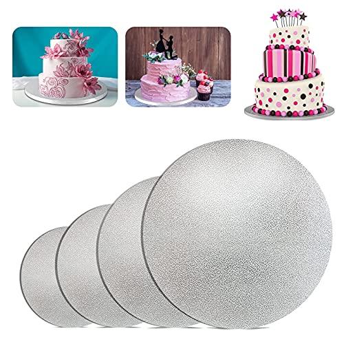 Rund Cake Boards,4 Stück Tortenunterlage,beschichtet Kuchenplatte,Tortenplatte...