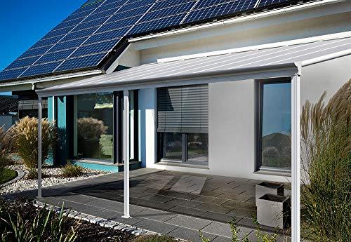 Home Deluxe - Terrassenüberdachung weiß - inkl. Hohlkammerplatten - inkl....