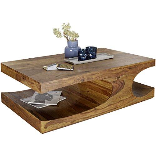 Wohnling Couchtisch BOHA Massiv-Holz Sheesham 118 cm breit Wohnzimmer-Tisch Design...