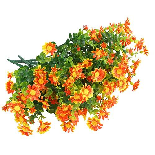Greentime 6 Bündel UV-beständige künstliche Blumen für draußen, Buchsbaumsträucher...
