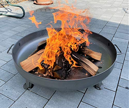 Czaja Stanzteile Feuerschale Bonn Ø80cm - mit Wasserablaufbohrung - Feuerstelle für...