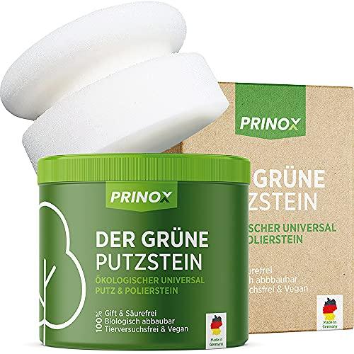 PRINOX® Der Grüne Putzstein I 950g inkl. Handschwamm I Nachhaltiger Universal...