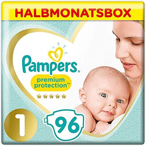 Pampers Premium Protection Windeln, Gr. 1, 2-5kg, Halbmonatsbox (1 x 96 Windeln), Pampers...