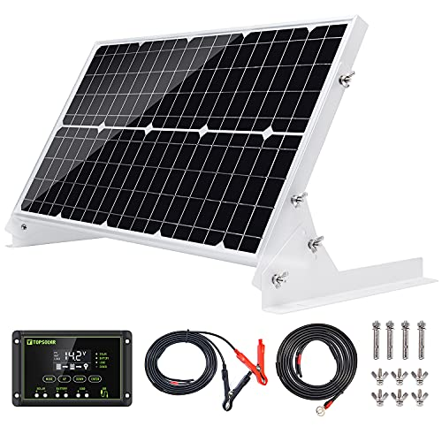 TP-solar 30W 12V Solar Panel kit Battery Charger Maintainer + 10A Waterproof Solar Charge...