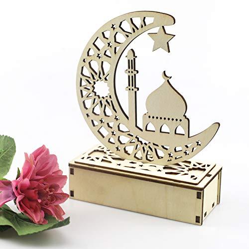 Ramadan Laterne,Eid Mubarak Ramadan LED Holz Lampe , Muslim Ramadan Festival Dekoration...