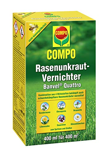 Compo Rasenunkraut-Vernichter Banvel Quattro (Nachfolger Banvel M), Bekämpfung von...