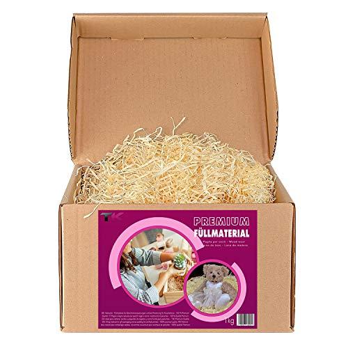 Füllmaterial für Pakete - Holzwolle für Geschenkkorb - naturbelassenes Ostergras - Deko...