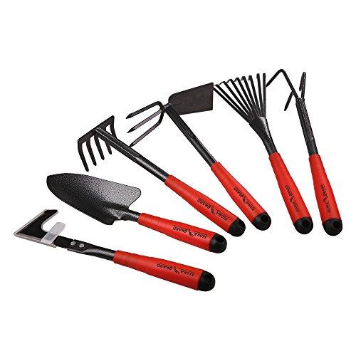 FLORA GUARD Gartengeräte,-6 Stück Garten Werkzeug Set Einschließlich Weeder,...