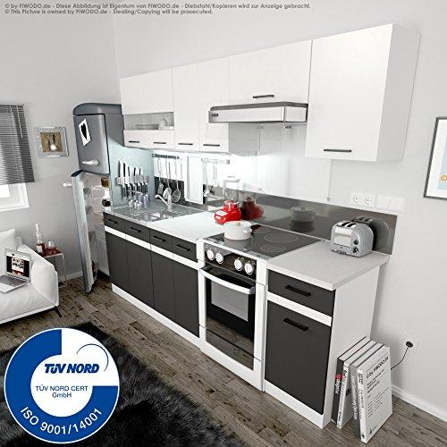 Küche 240cm von FIWODO® - ERWEITERBAR - günstig + schnell - Einbauküche Junona Line...