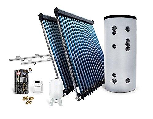 Solar-Paket Röhrenkollektor HP22 für Schrägdach mit Brauchwasserspeicher 400 L, 7,22...