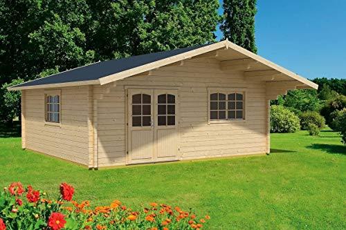 Gartenhaus G82 inkl. Fußboden - 70 mm Blockbohlenhaus, Grundfläche: 33,00 m²,...