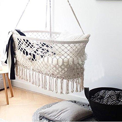 Here&There Baby Wiege Aufhängen Bette Hängematte Wiegen Babywiege Kinderbett Quaste...