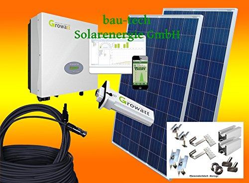 bau-tech Solarenergie 1000Watt Photovoltaikanlage für Eigenverbrauch Plug & Play...