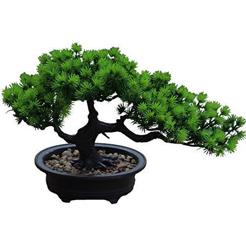Aisamco Künstlicher Bonsai-Baum Gefälschte Pflanze Künstliche Zimmerpflanzen im Topf...