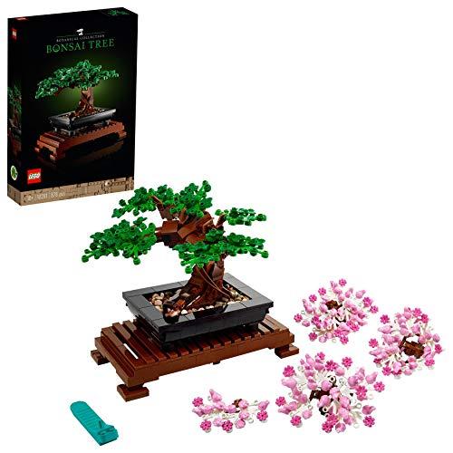 LEGO 10281 Creator Expert Bonsai Baum, DIY Set für Erwachsene, Zimmer-Deko, Botanik...