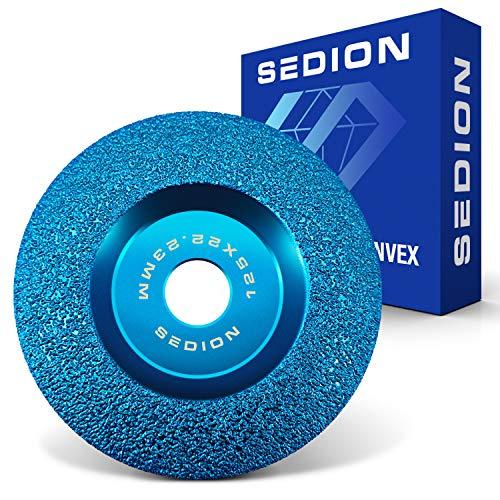 SEDION ® Diamantschleifscheibe Gewölbt 125 mm x 22,23 - Für Granit, Marmor, Stein,...