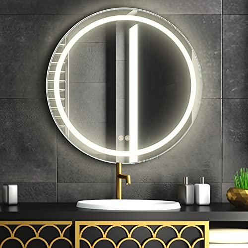 FAUETI LED Badspiegel Badezimmerspiegel mit Beleuchtung 60cm Neutralweiß 4200K...