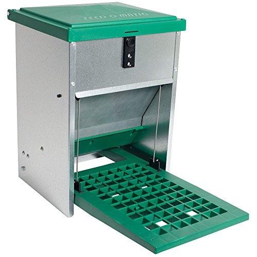 Futterautomat Feedomatic 5kg mit Trittplatte für 5kg Futter, Geflügel-Futterautomat,...