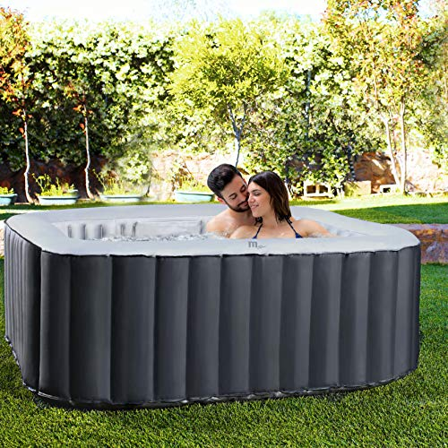 Miweba MSpa aufblasbarer Whirlpool Outdoor - 6 Personen – 132 Düsen - 185x185 cm –...