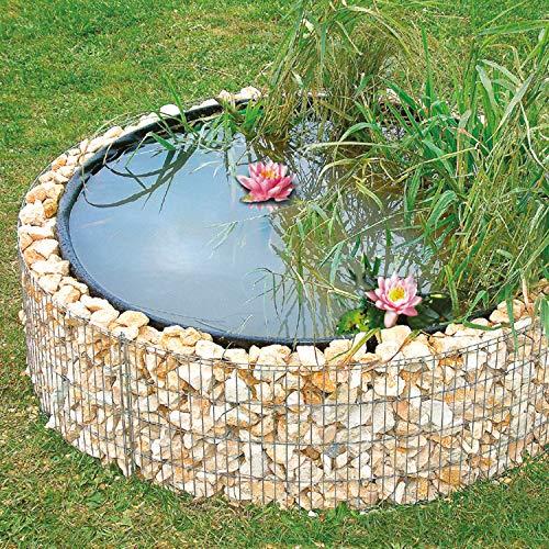 bellissa Gabionen Hochteich - 95577 - Teich für den Garten, inkl. Teichfolie und...