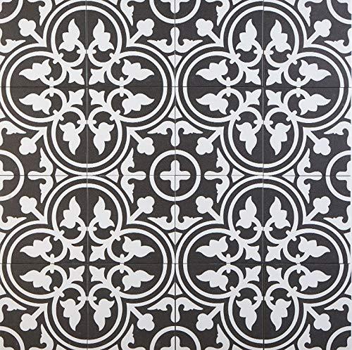 Casa Moro Mediterrane Keramikfliesen orientalisch Flavie Noir 20x20 cm 1 qm Feinsteinzeug...