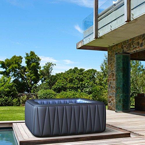 Whirlpool MSpa aufblasbar für 6 Personen SPA 185x185cm In-Outdoor Pool 132 Massagedüsen...