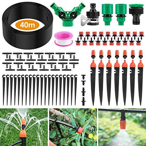 Ehomfy Automatisches Bewässerungssystem, 40 m Gartenbewässerungssystem,...