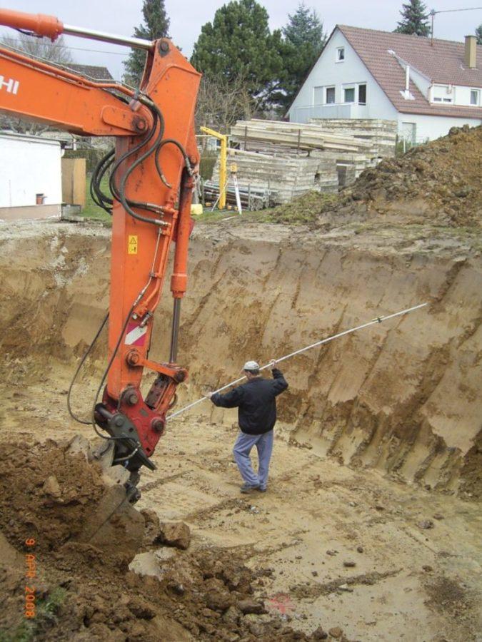 Aushub Baugrube ohne Bodengutachten