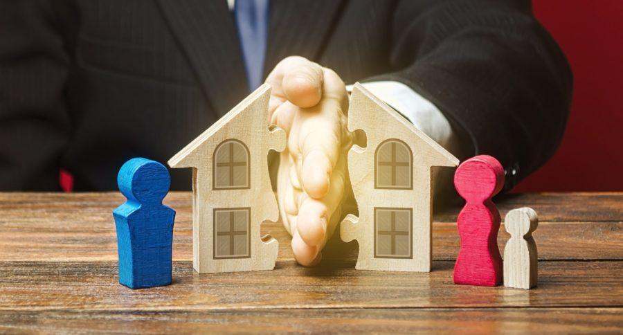 Beim Zugewinnausgleich nach einer Scheidung können auch Immobilien eine große Rolle spielen.