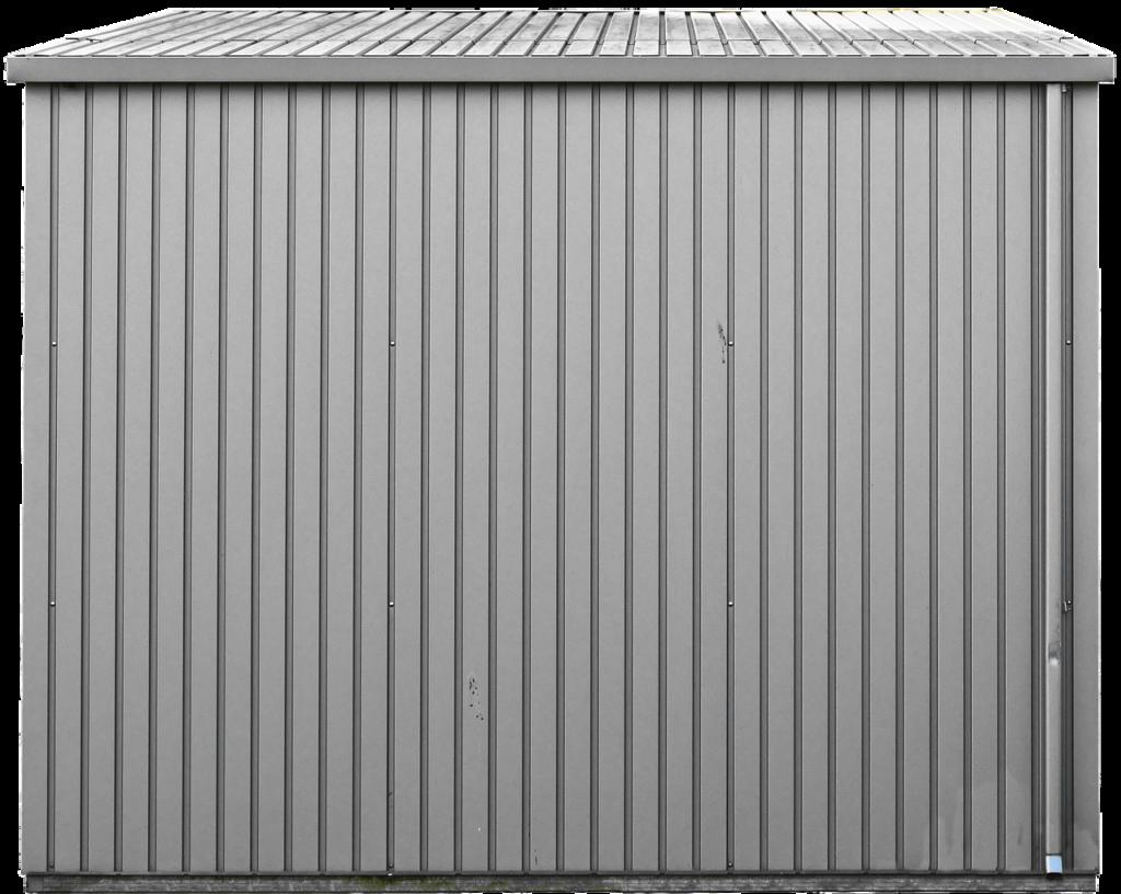 Fertig-Gartenhaus aus Metall
