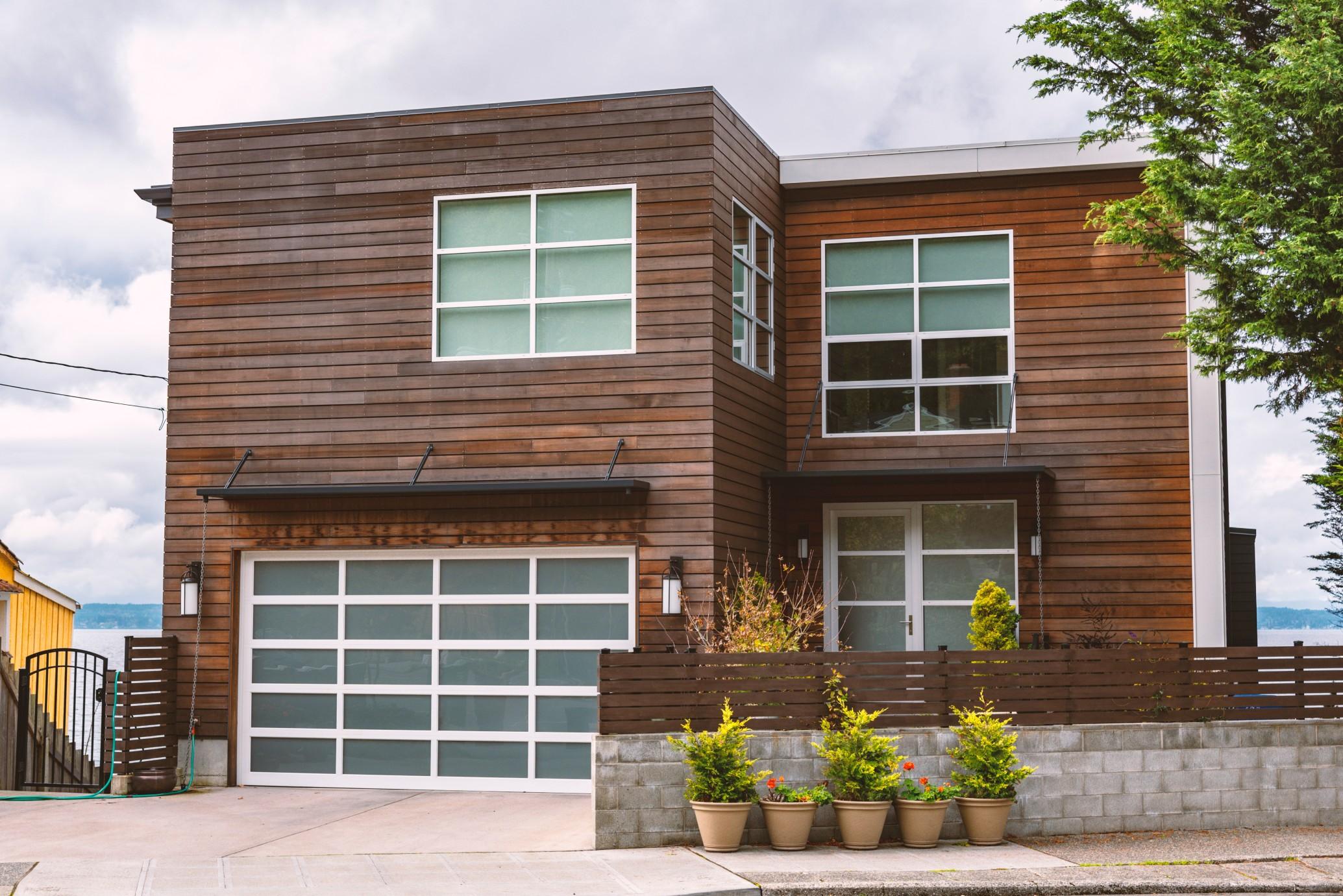 Haus im Bauhausstil mit Flachdach. Foto RLTheis via Twenty20